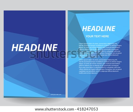 Abstract Flyers Brochure Annual Report Design Templates Templateflyer Designportfolio Background