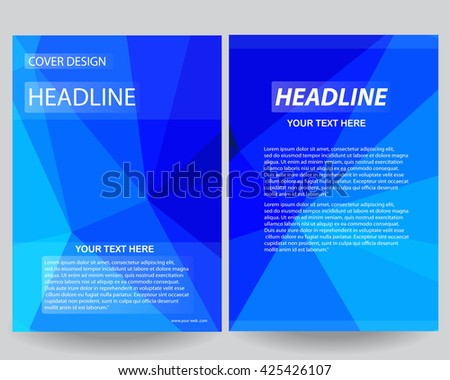 Abstract flyers brochure annual report design templates template,flyer design,portfolio, background, info-graphics,Front page and back page in size a4,Abstract blue lowpoly background