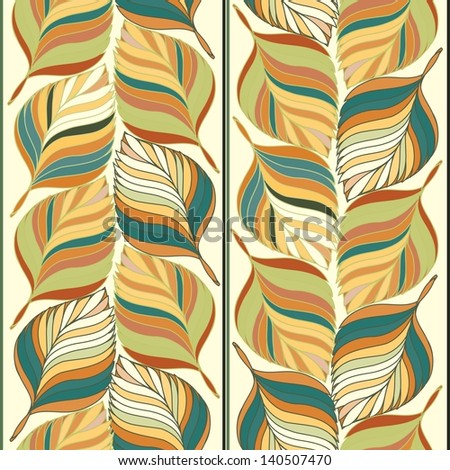 Abstract foliage seamless pattern background - stock vector