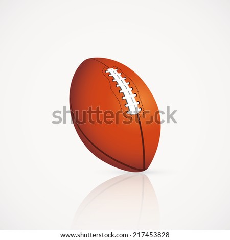 abstract football ball on a white background