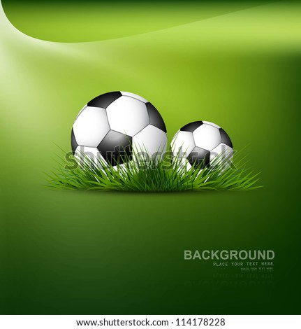 abstract football green grass colorful background vector