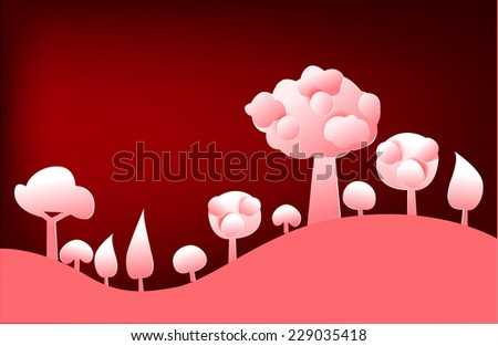 Abstract forest paper background - stock vector