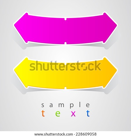 Abstract form arrow label - stock vector