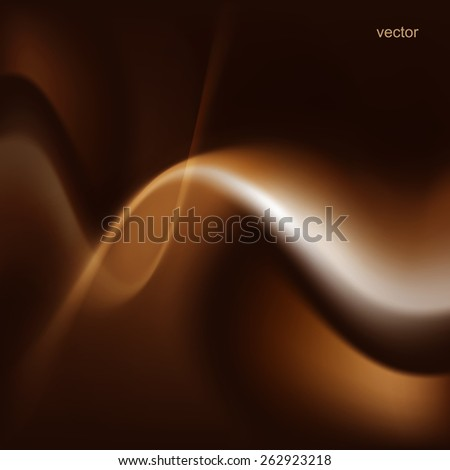 Abstract form of light wave. Vector illustration - stock vector