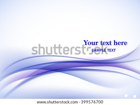 Abstract fractal background in blue white colors - stock vector