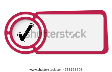 Abstract frame for your text and check box - stock vector