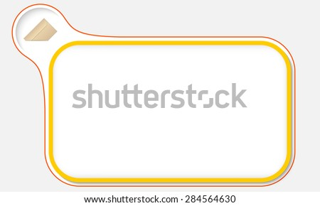 Abstract frame for your text and envelope - stock vector