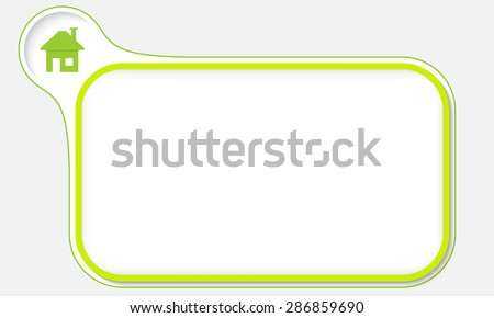 Abstract frame for your text and home icon - stock vector