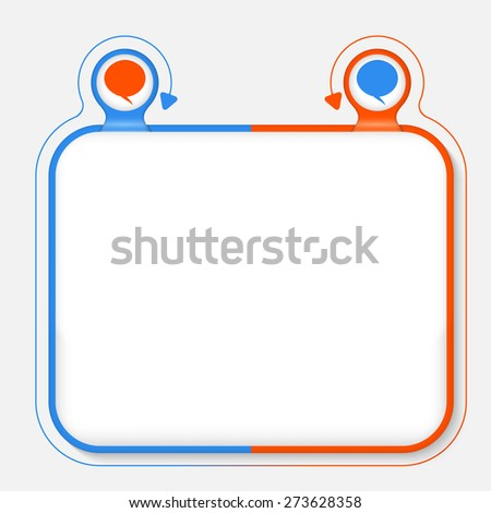 Abstract frame for your text and speech bubble - stock vector