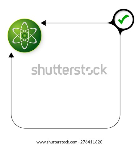 Abstract frame for your text with check box and science icon - stock vector