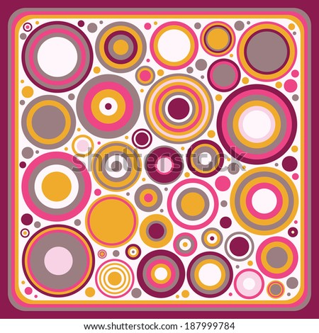 abstract frame with circles - stock vector