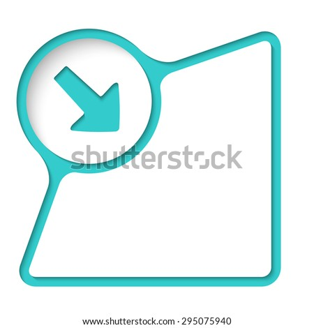 Abstract frame with inner shadow and arrow - stock vector