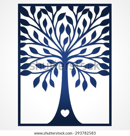 Abstract Frame Tree May Be Used Stock Vector 293782583 Shutterstock