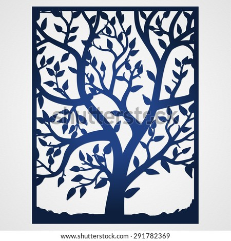 Abstract Frame Tree May Be Used Stock Vector 291782369 Shutterstock