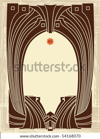 Abstract framework from the bound plants in style art-nouveau - stock vector
