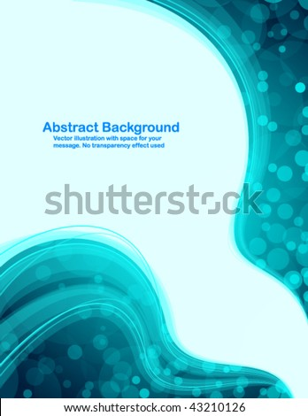 "Abstract fresh background with transparent blue waves. No ""transparency"" effect used."