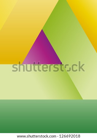 Abstract fresh color geometric shapes background composition.