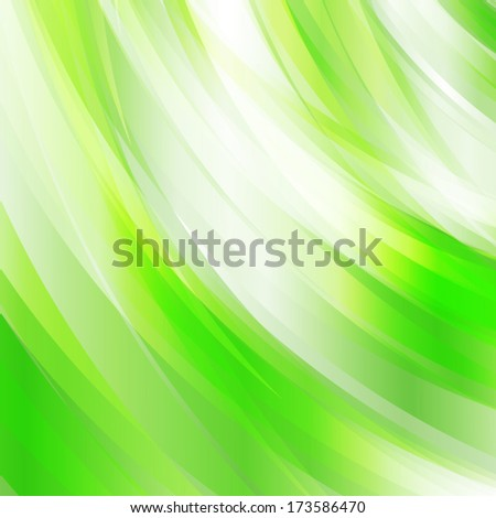 Abstract fresh green background, ideal for nature concept designs. - stock vector