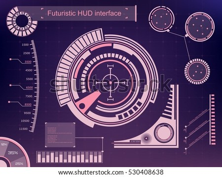 Abstract future, concept vector futuristic blue virtual graphic touch user interface HUD. For web, site, mobile applications isolated on background, techno, online design, business, gui, ui, kit, hud.