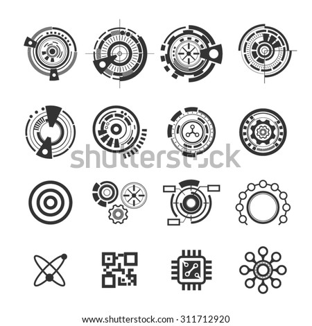 Abstract future icons,Vector - stock vector
