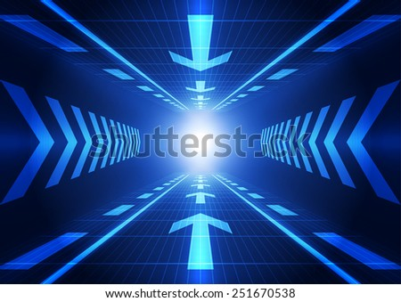abstract future technology concept background, vector illustration - stock vector