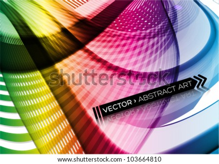 abstract futuristic background - stock vector