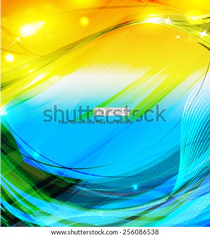 Abstract futuristic background with lighting effect. - stock vector