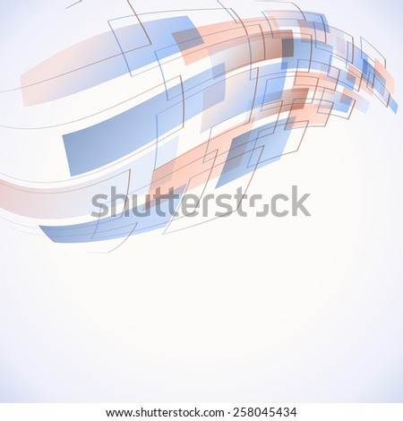 abstract futuristic background with soft blue color - stock vector