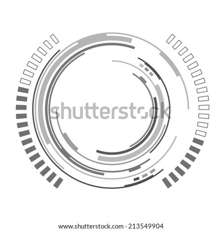 Abstract futuristic background with spaceship HUD blueprint - stock vector