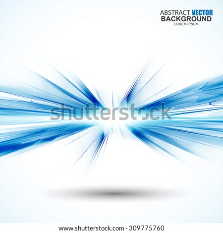 Abstract futuristic blue wavy background - stock vector