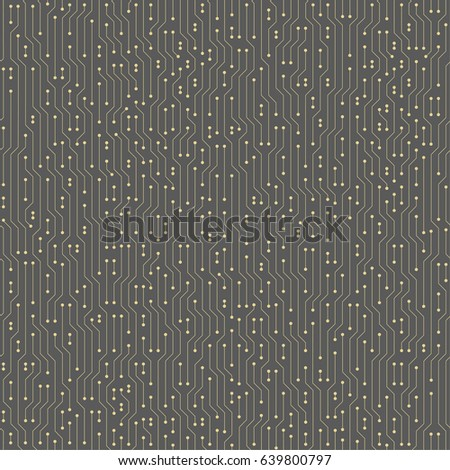 Abstract futuristic circuit board seamless vector background