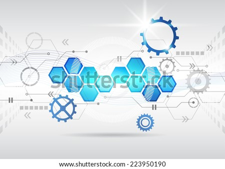 abstract futuristic circuit high computer technology business background vector illustration - stock vector