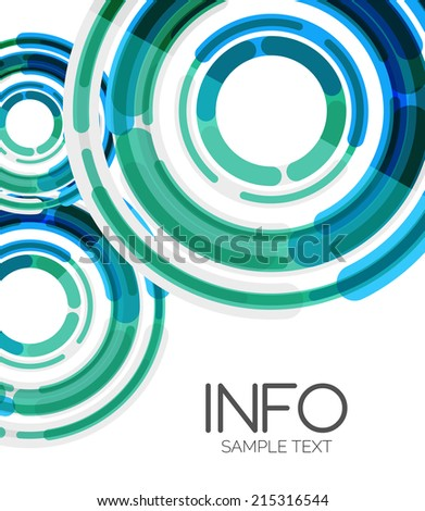 Abstract futuristic design elements hi-tech layout, modern background - stock vector