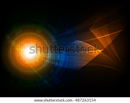 Abstract futuristic digital technology background. Vector illustration EPS10