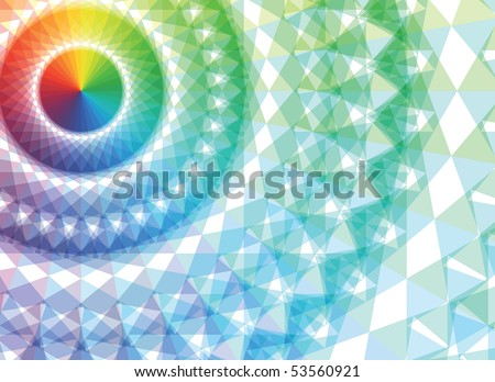 Abstract futuristic fractal a colour background - stock vector