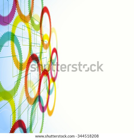 abstract futuristic geometric background. multicolored technological shapes - stock vector