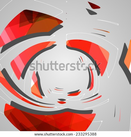 Abstract futuristic geometric shapes, dynamic illustration.