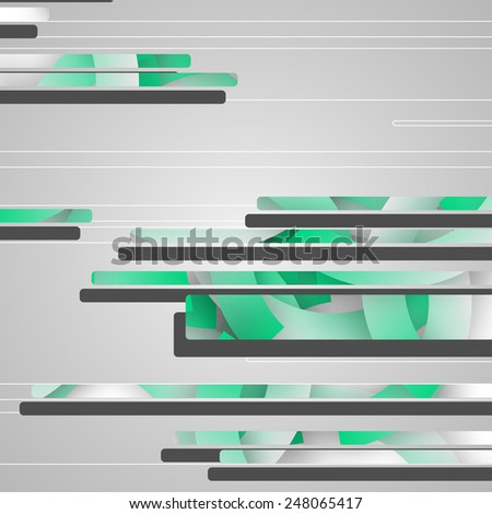 Abstract futuristic geometric shapes dynamic illustration.