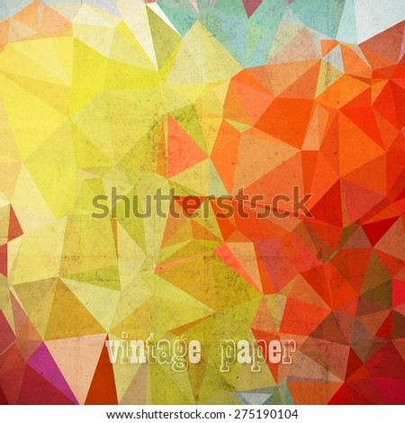 abstract futuristic geometrical background, vector paper texture - stock vector