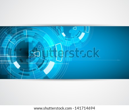 abstract futuristic internet high computer technology business background - stock vector