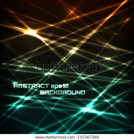 Abstract futuristic lines background. Vector illustration. - stock vector