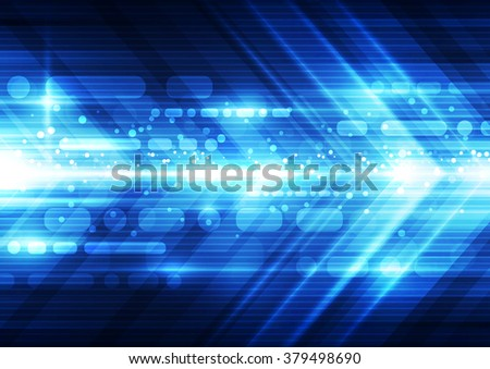 Abstract futuristic speed technology background. Illustration Vector