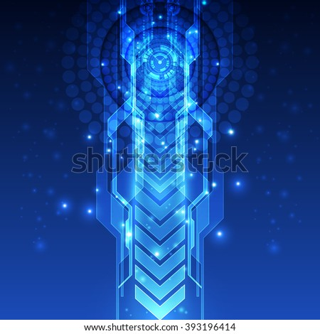 Abstract futuristic speed technology background. Illustration Vector - stock vector