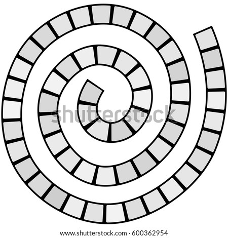 Abstract Futuristic Spiral Maze Pattern Template Stock Vector ...