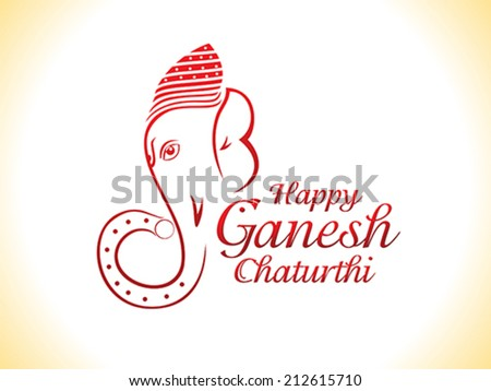 abstract ganesha chaturthi background vector illustration - stock vector