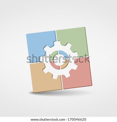 Abstract gear icon, vector eps10 illustration