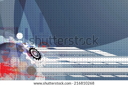 abstract gear vector new technology background communication and information business industry - stock vector