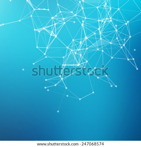Abstract geometric background. Connecting dots with lines. - stock vector