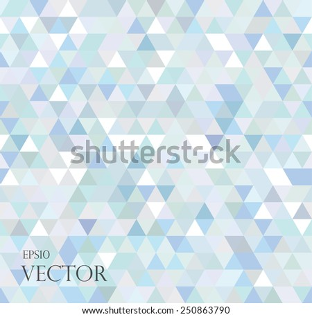 Abstract geometric background consisting of light blue triangles. - stock vector