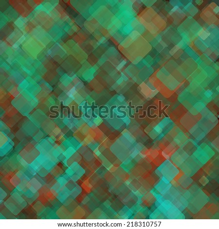 Abstract geometric background  consisting of overlapping square elements of various sizes, with rounded corners. Vector illustration.